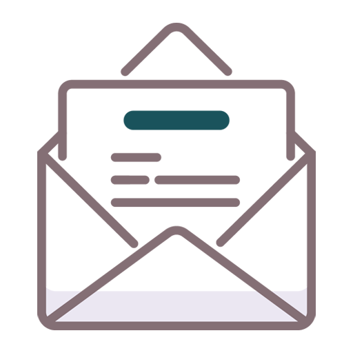 icon illustrating an opened email marketing campaign